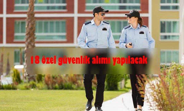 Belediye özel güvenlik alımı