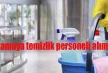 kamuya temizlik personeli alımı