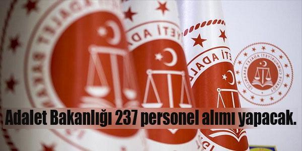 adalet bakanligi personel alimi 237